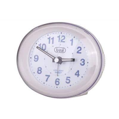 Trevi SL 3052 Ρολόι & Ξυπνητήρι αθόρυβο, λευκό