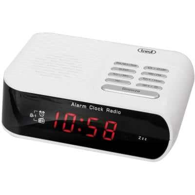 Trevi RC 827 D Ψηφιακό ρολόι ρεύματος με ραδιόφωνο, λευκό