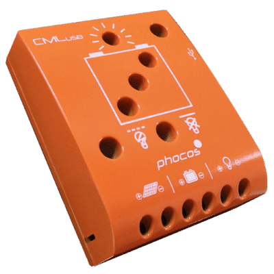 PHOCOS Ρυθμιστής Φόρτισης 12/24V 5A CML-USB-05-2,2