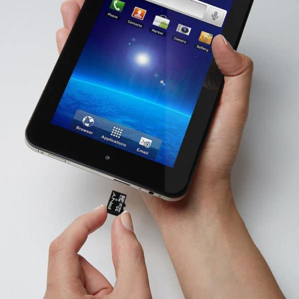 PNY Κάρτα μνήμης microSDHC, Class 10 UHS-I U1, 32GB,έως και 100 MB/s με αντάπτορα SD P-SDU32G10PPL-GE 32GB 4
