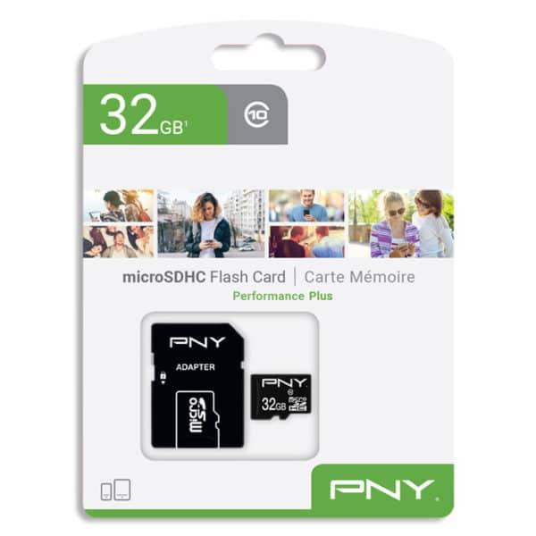 PNY Κάρτα μνήμης microSDHC, Class 10 UHS-I U1, 32GB,έως και 100 MB/s με αντάπτορα SD P-SDU32G10PPL-GE 32GB