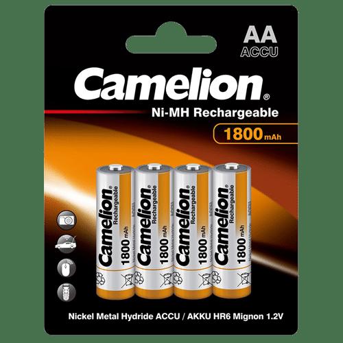 Camelion AA LR06 1.2V 1800mAh Επαναφορτιζόμενες Μπαταρίες NH-AA1800BP4 (4τμχ.) 1