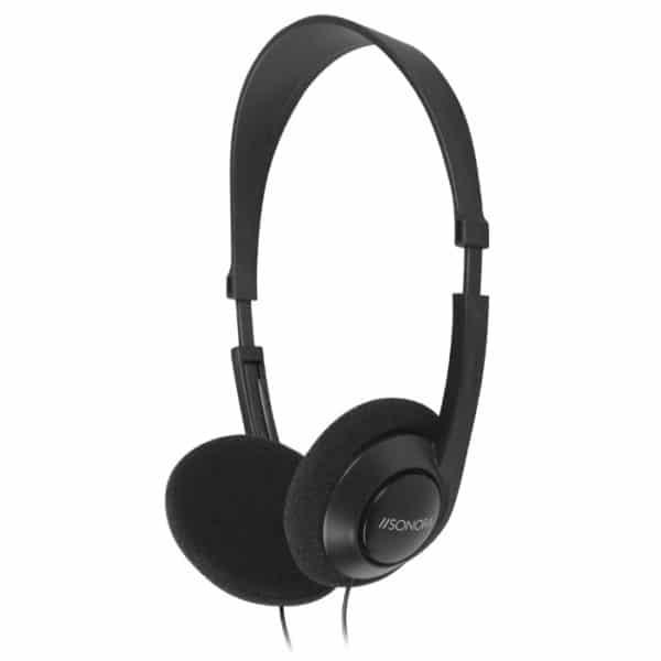 SONORA Ενσύρματα, on-ear στερεοφωνικά ακουστικά τηλεόρασης, με καλώδιο μήκους 6m HPTV-100