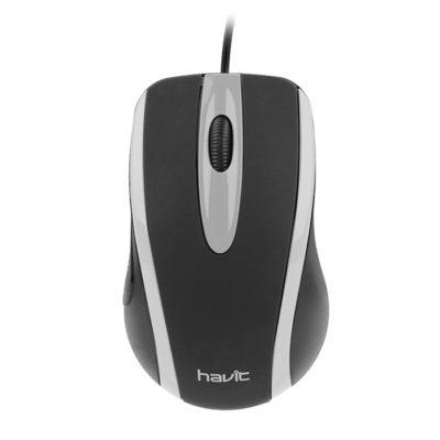 HAVIT HV-MS753 Optical Mouse 1000dpi, Grey/Black