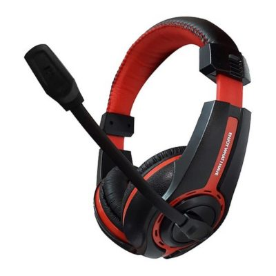 Havit HV-H2116D Stereo Headset with PC Microphone, Black/Red