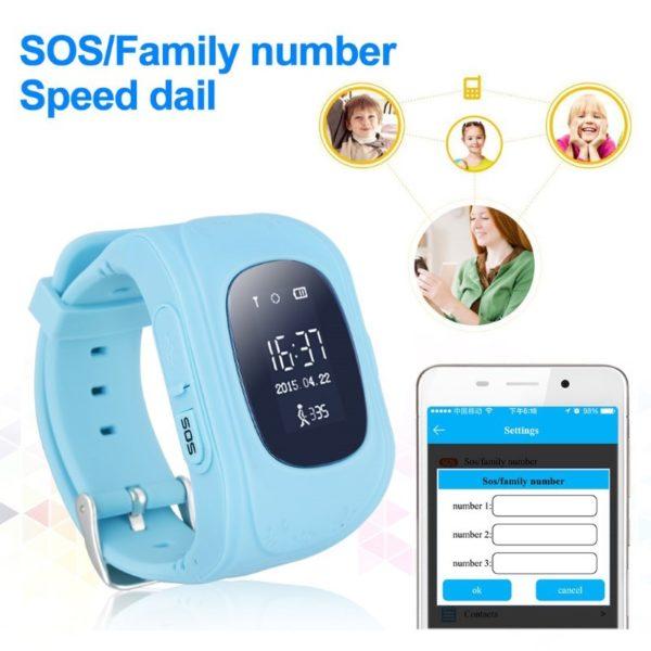INTIME GPS Παιδικό ρολόι χειρός IT-023, SOS, βηματομετρητής, σκούρο μπλε 1