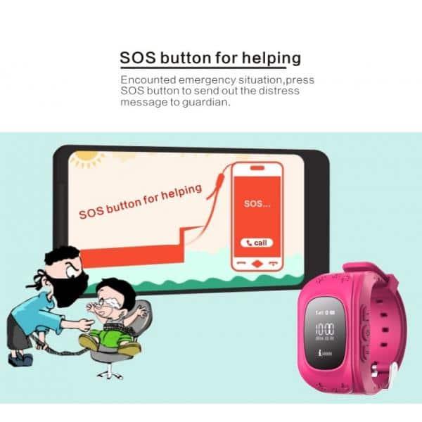 INTIME GPS Παιδικό ρολόι χειρός IT-023, SOS, βηματομετρητής, σκούρο μπλε 3