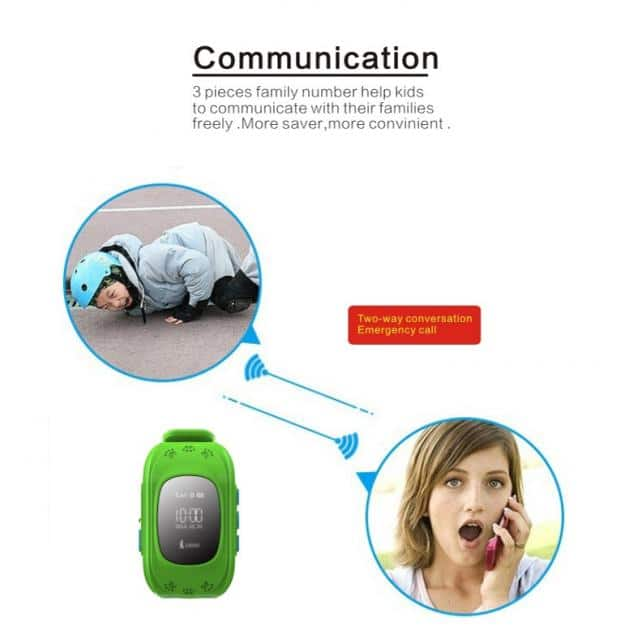 INTIME GPS Παιδικό ρολόι χειρός IT-023, SOS, βηματομετρητής, σκούρο μπλε 4