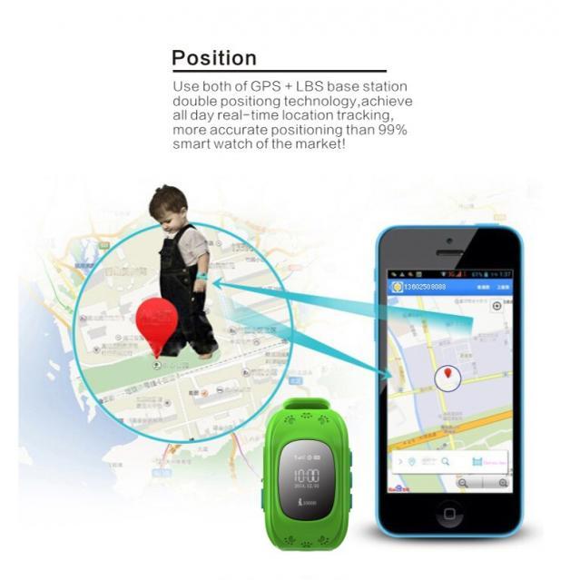 INTIME GPS Παιδικό ρολόι χειρός IT-025, SOS, βηματομετρητής, πράσινο 2