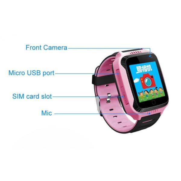 INTIME GPS Παιδικό ρολόι χειρός IT-027, SOS, βηματομετρητής, ροζ 2