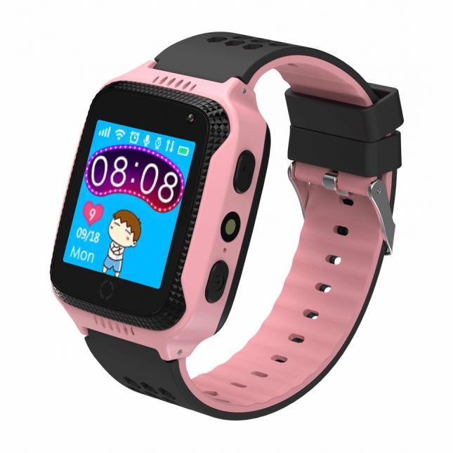 INTIME GPS Παιδικό ρολόι χειρός IT-027, SOS, βηματομετρητής, ροζ