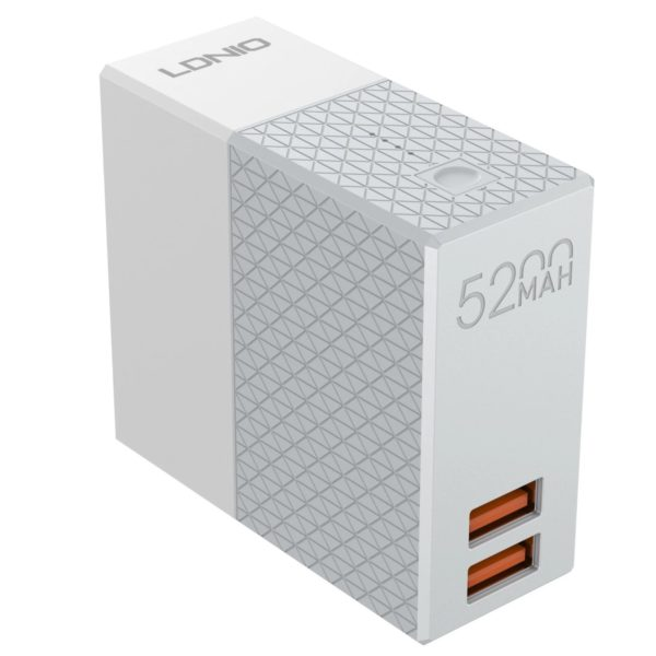 LDNIO PA606 Power Bank 5200mAh & Travel Charger 2 in 1