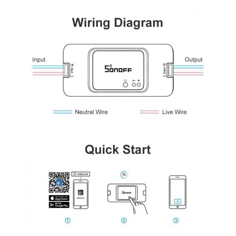 SONOFF Smart διακόπτης SNF-BASICR3, 10A, WiFi, λευκός 4
