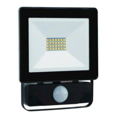 Spotlight Προβολέας LED με Ανιχνευτή Κίνησης Slim SMD 50W 4000lm 6000k IP65, Μαύρος (6231)