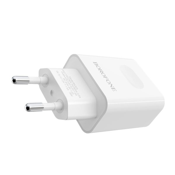 BOROFONE BA32A Bright power wall charger with single USB port 2