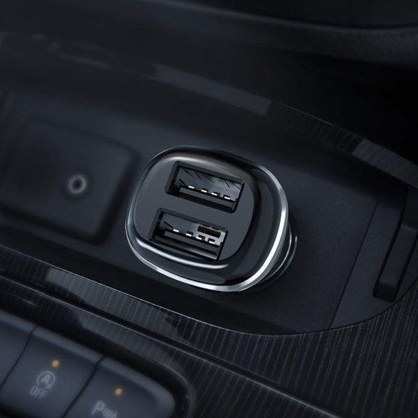 BOROFONE BZ13 Extreme, dual USB port in-car charger 2.4A, Black 2