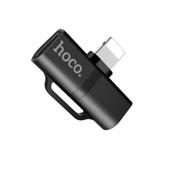 Hoco LS20 Adapter Lightning to dual Lightning audio converter, Black