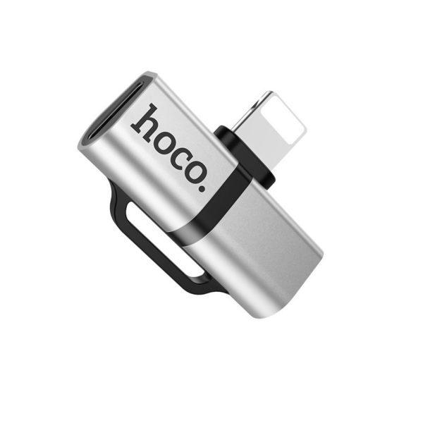 Hoco LS20 Adapter Lightning to dual Lightning audio converter, Silver