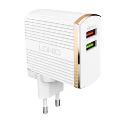 LDNIO USB Φορτιστής QC3.0 2 Θέσεων A2502Q