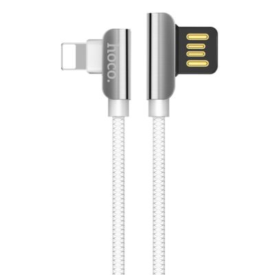Hoco Cable USB to Lightning U42 Exquisite steel charging data sync, White