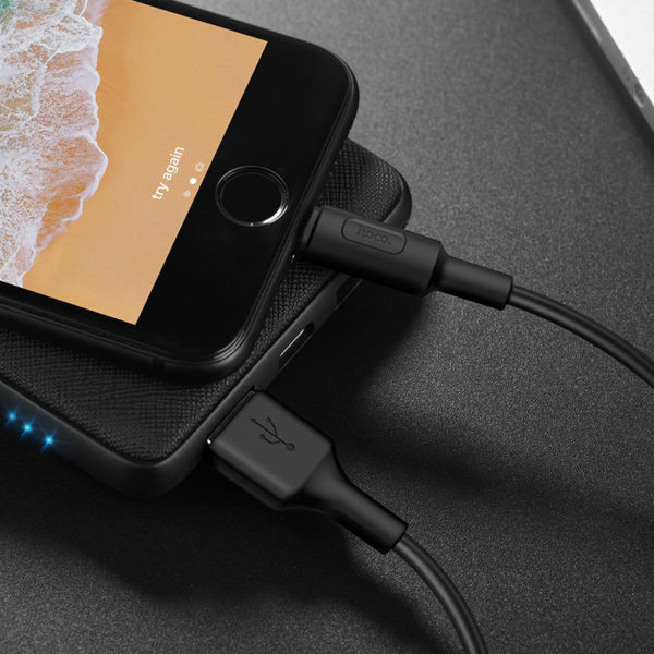 Hoco Cable USB to Lightning X25 Soarer charging data sync 1m, Black 4