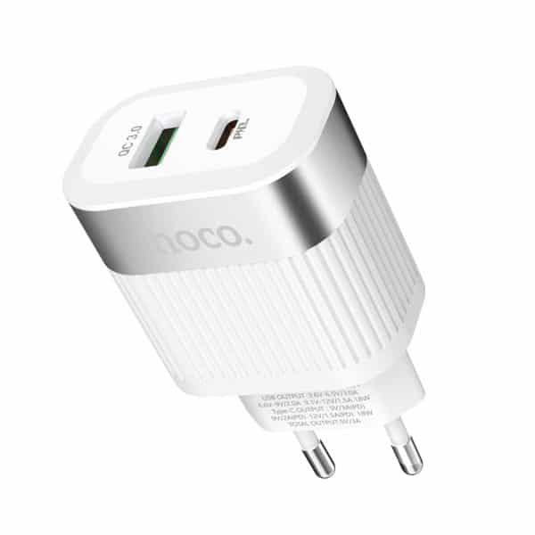 Hoco Wall charger C58A Prominent USB QC3.0 & Type-C PD 1