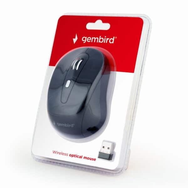 Gembird Ασύρματο οπτικό ποντίκι 6 πλήκτρων 1600DPI, μαύρο χρώμα 2
