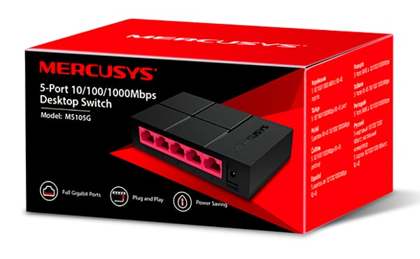 MERCUSYS Desktop Switch MS105G, 5x 10/100/1000 Mbps, Ver. 1 3