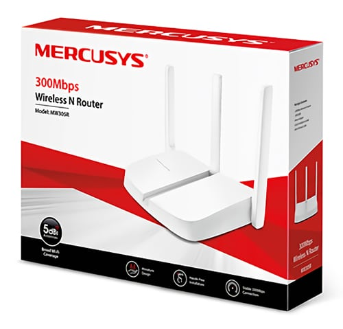 MERCUSYS Wireless N Router MW305R, 300Mbps, 4x 10/100Mbps, Ver. 2 3