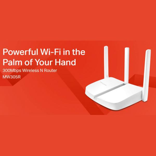 MERCUSYS Wireless N Router MW305R, 300Mbps, 4x 10/100Mbps, Ver. 2 4