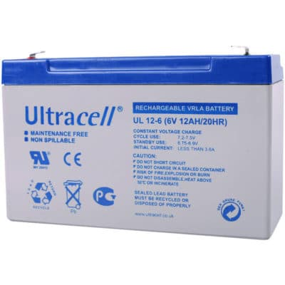 Ultracell 6V 12Ah Μπαταρία Μολύβδου UL 12-6