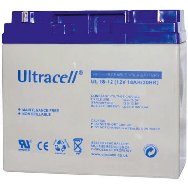 Ultracell 12V 18Ah Μπαταρία Μολύβδου UL 18-12