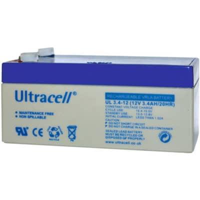 Ultracell 12V 3.4Ah Μπαταρία Μολύβδου UL 3.4-12