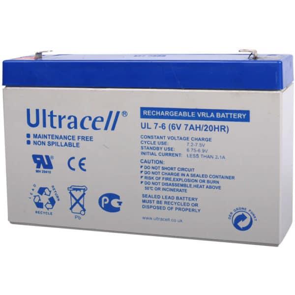 Ultracell 6V 7Ah Μπαταρία Μολύβδου UL 7-6