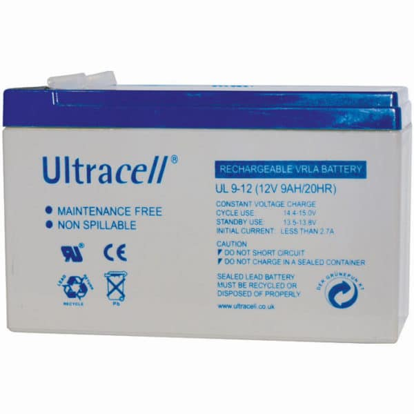 Ultracell 12V 9Ah Μπαταρία Μολύβδου UL 9-12