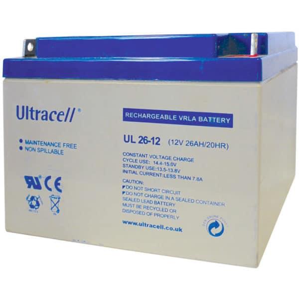 Ultracell 12V 26Ah Μπαταρία Μολύβδου UL 26-12