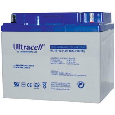 Ultracell 12V 40Ah Μπαταρία Μολύβδου UL40-12