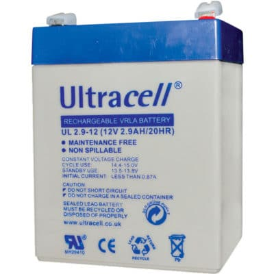 Ultracell 12V 2.9AH Μπαταρία Μολύβδου UL2.9-12