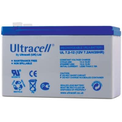 Ultracell 12V 7.2Ah Μπαταρία Μολύβδου UL7.2-12 F1