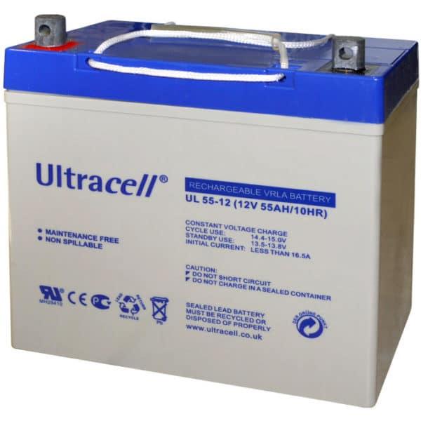 Ultracell UL55-12 Μπαταρία μολύβδου 12V 55Ah
