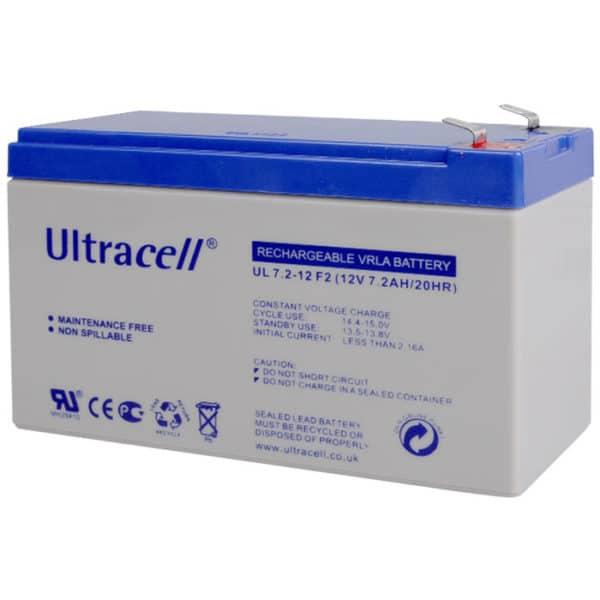 Ultracell 12V 7.2Ah Μπαταρία Μολύβδου UL7.2-12 F2