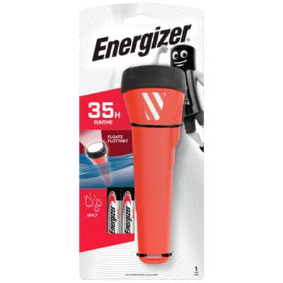 ENERGIZER Αδιάβροχος φακός Energizer 55 lumens, Κόκκινος F081101