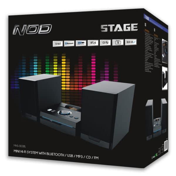 NOD STAGE Mini Hi-Fi με CD player, FM ράδιο, Bluetooth και USB 50W. 9