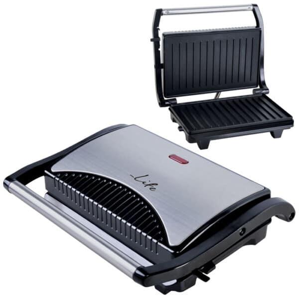 LIFE STG-100 INOX Τοστιέρα με grill πλάκες 700W