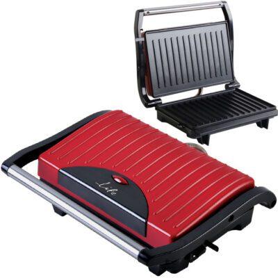 LIFE Scarlet Τοστιέρα με grill πλάκες 700W κόκκινη