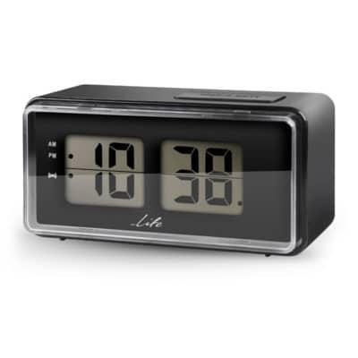 LIFE ACL-100 Ψηφιακό ρολόι / ξυπνητήρι με οθόνη LCD και retro flip design.