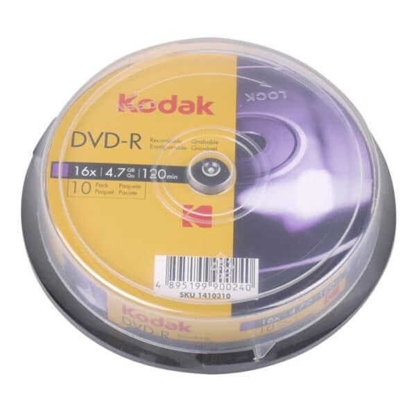 KODAK DVD-R 16x 4.7GB, 10-pack cakebox