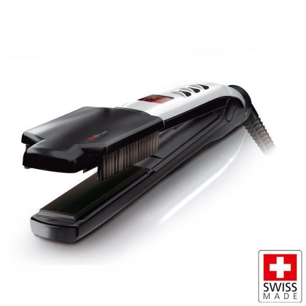 VALERA SWISS X SUPER BRUSH & SHINE Επαγγελματική συσκευή ισιώματος μαλλιών 37W με αποσπώμενη βούρτσα
