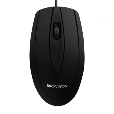 CANYON CMS1 Classic Optical Mouse 1000DPi 3 Buttons, Black