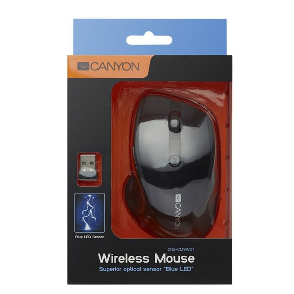 CANYON Wireless Mouse with Blue LED Sensor 1600DPi 6 Buttons, Blue CNS-CMSW01BL 4